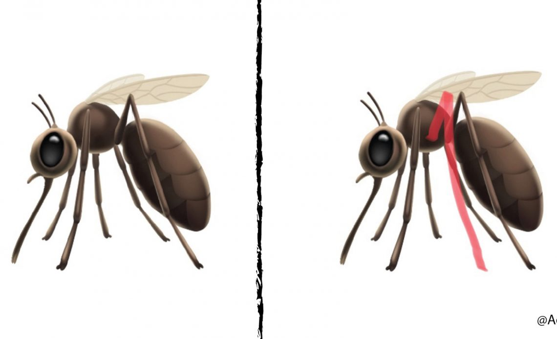 Apple sivrisinek emojisi