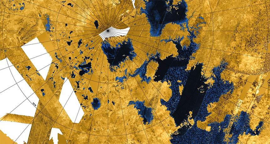 Satürn'ün uydusu Titan'ın gölleri