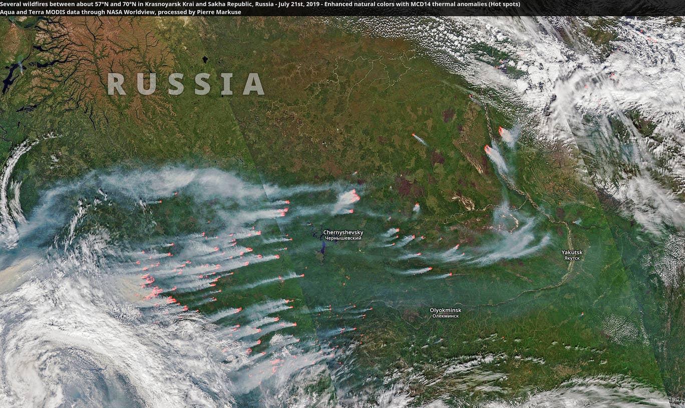 Arktik yangın Kuzey Kutbu yangın