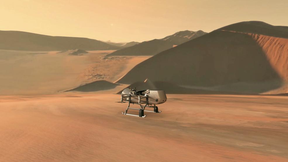Satürn'ün uydusu Titan'ı inceleyen NASA'nın Dragonfly aracı
