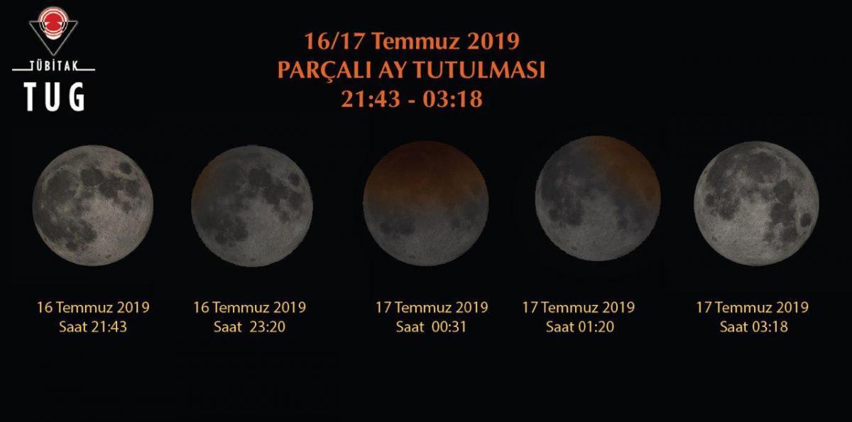 Kısmi Ay tutulması Tübitak Ulusal Gözlemevi