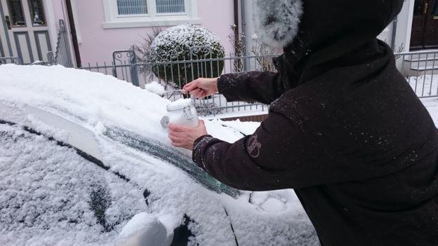 karlarda plastik parçaları