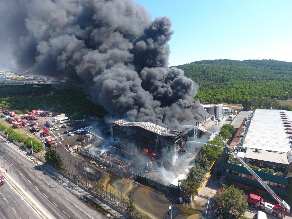 tuzla yangın kimyasallar tehlikeli mi