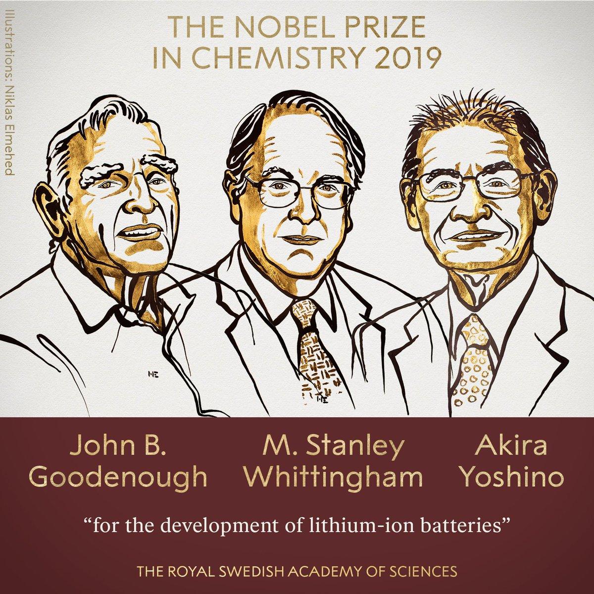 Nobel kimya ödülü 2019