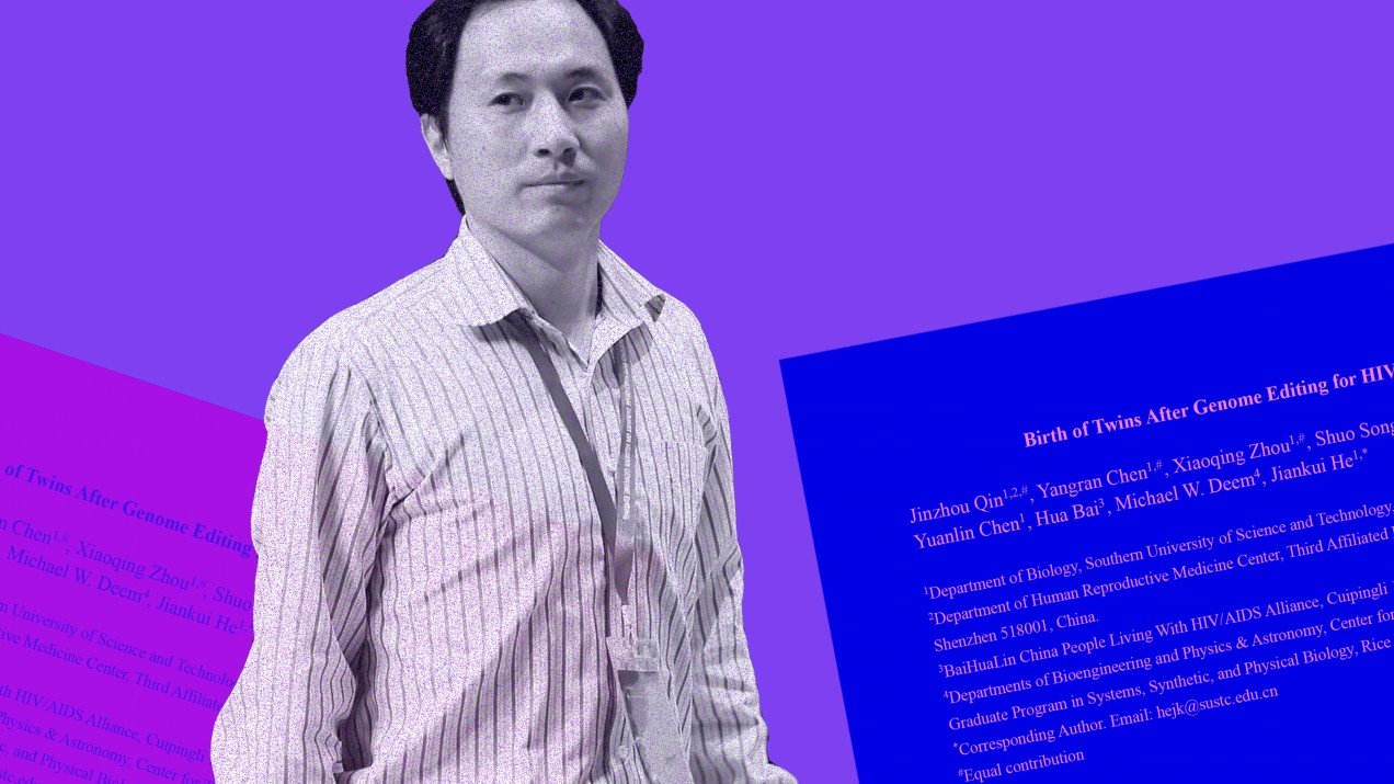 CRISPR bebekler He Jiankui hapis cezası