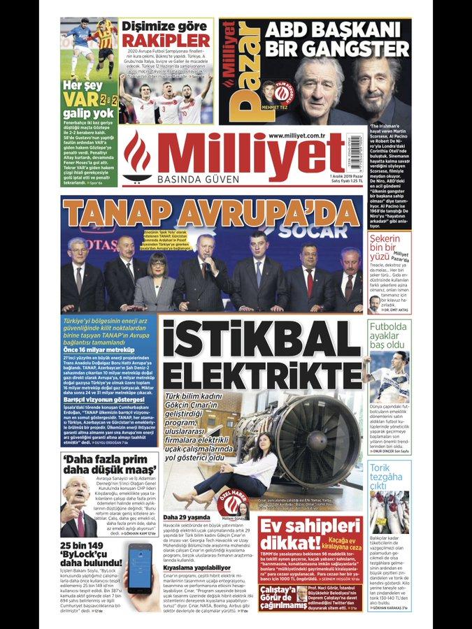 Milliyet Gazetesi Gökçin Çınar