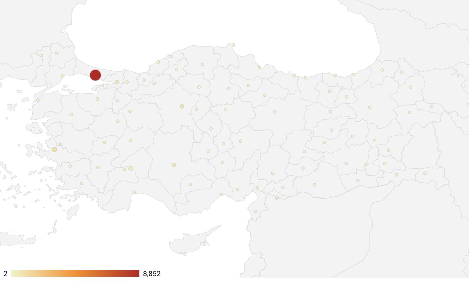 illere göre koronavirüs haritası