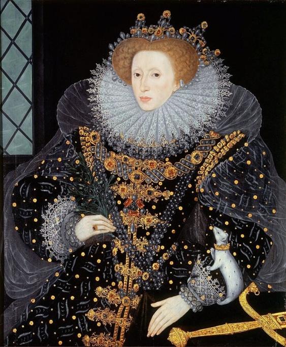 1. Elizabeth'in kolunda beyaz gelincik olduğu portresi