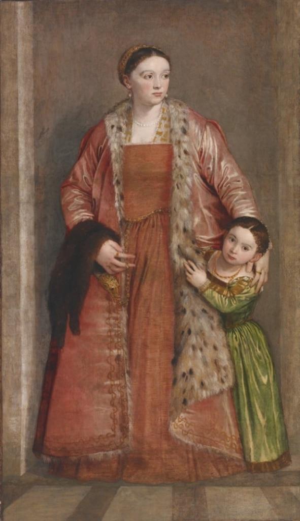 Elinde gelincik kürkü olan Livia, kontes