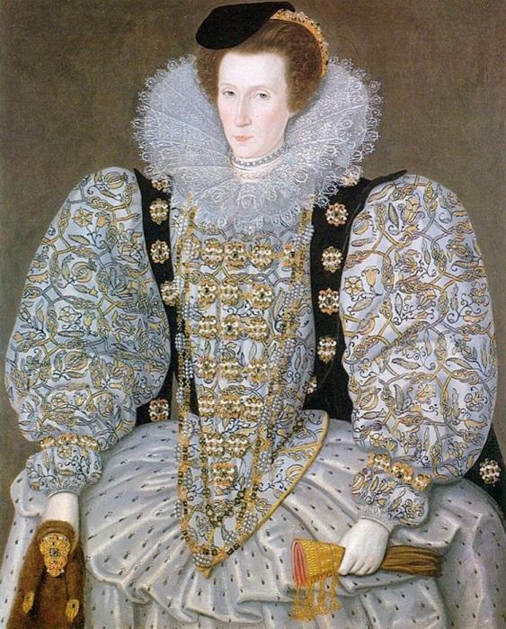 Elinde altın başlı gelincik olan bir kadın portresi