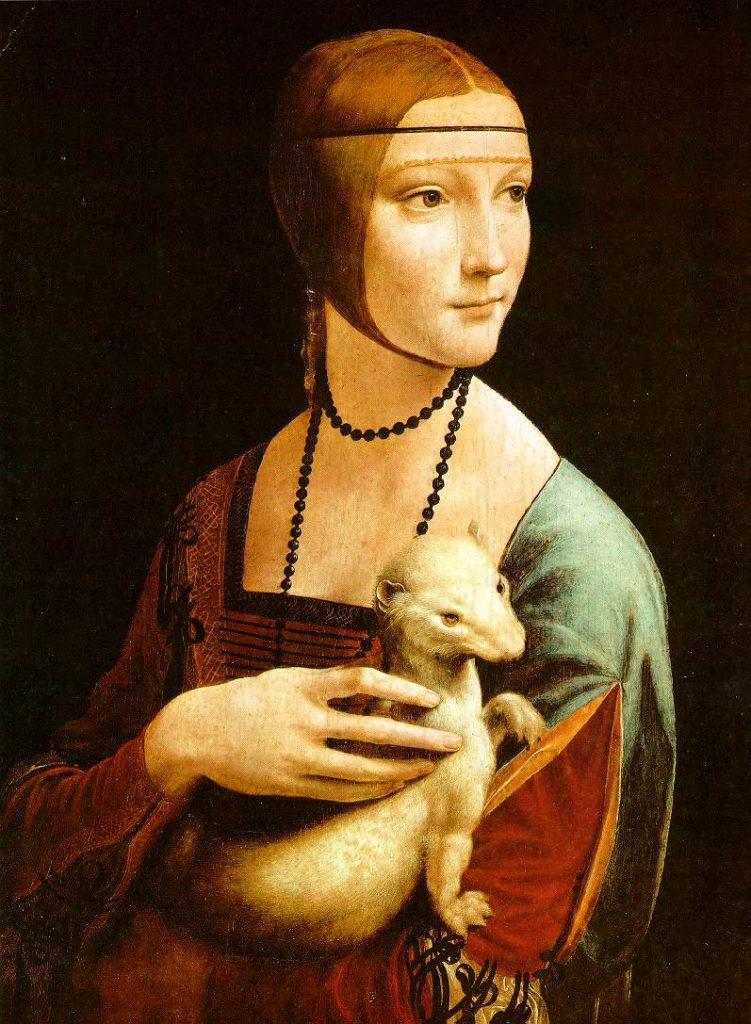 kucağında kakım tutan kadın portresi Leonardo da vinci