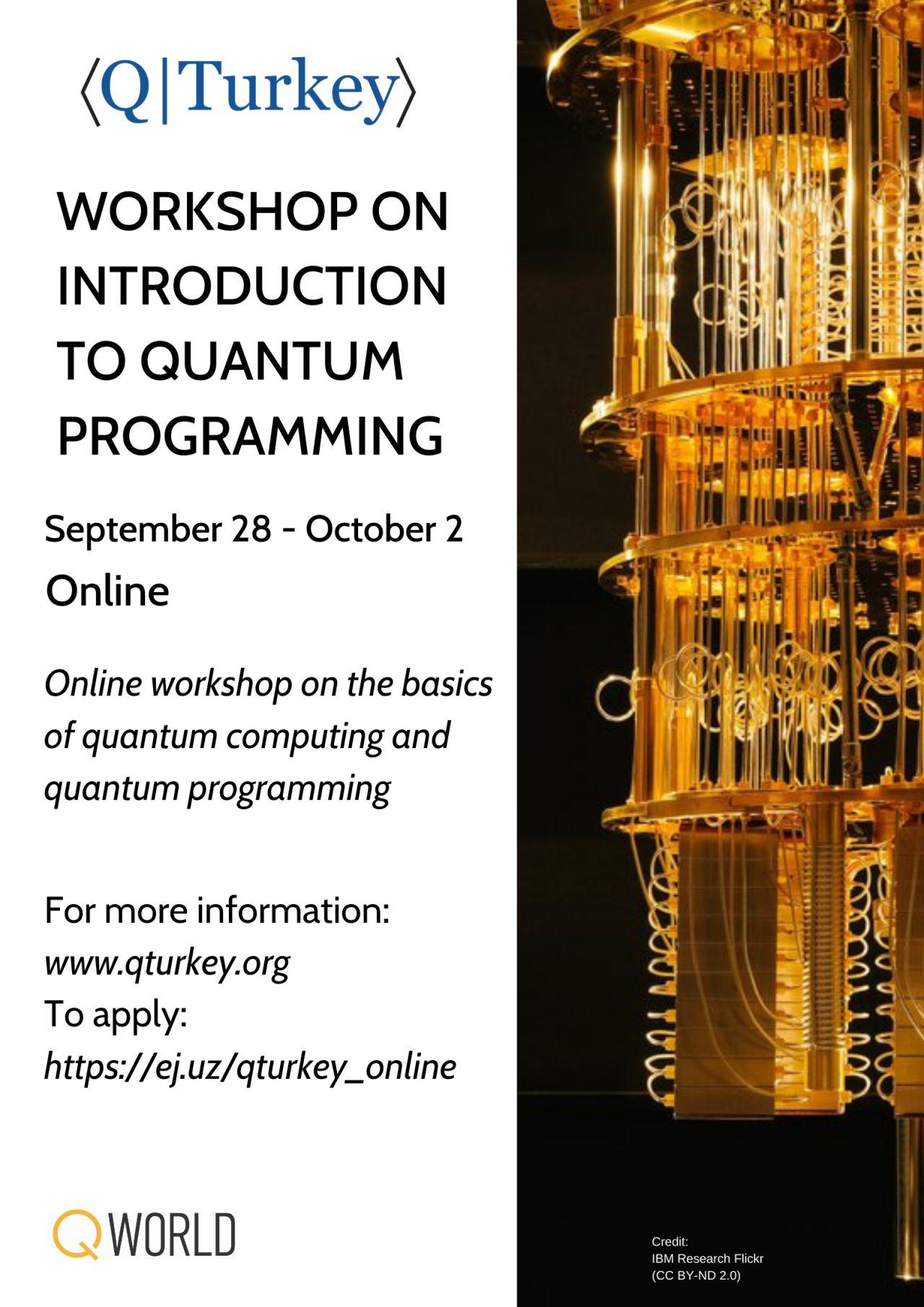 Kuantum Programlama Atölyesine Giriş dersi