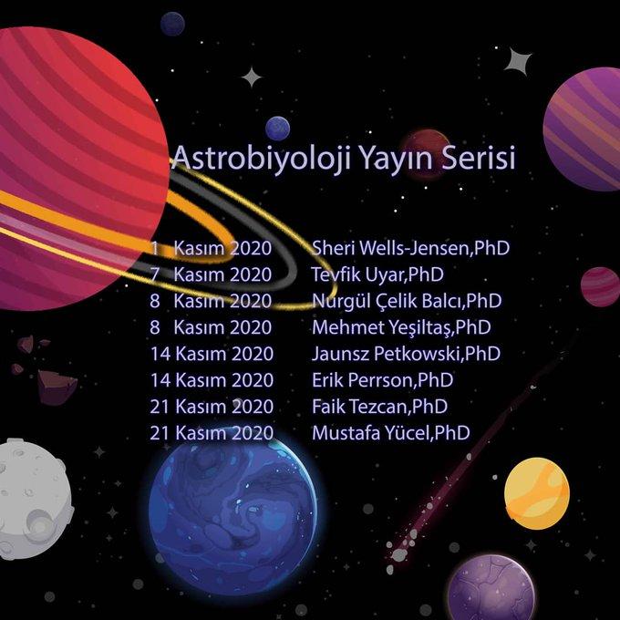 odtü astrobiyoloji yayın serisi 2020