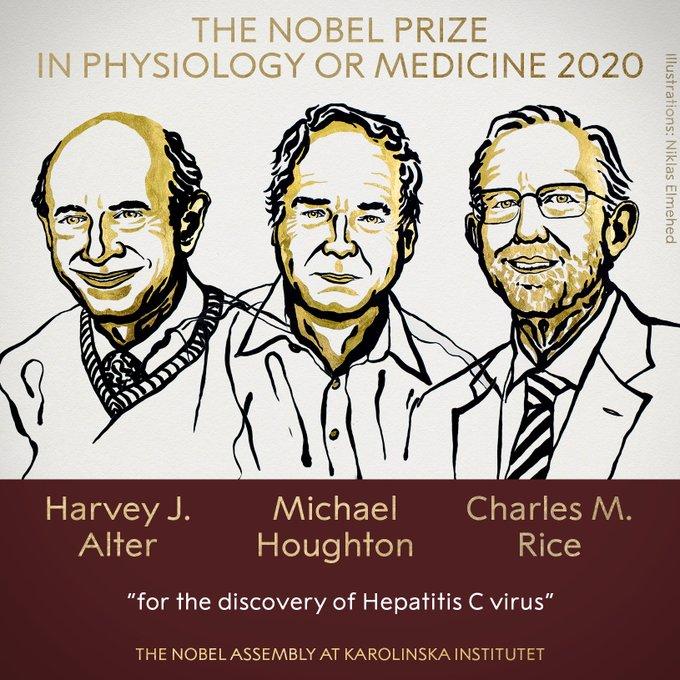 nobel tıp ödülü 2020 kimin