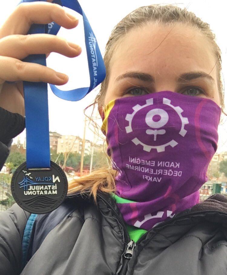 bilim kadınları ekibi istanbul maratonu'na katıldı