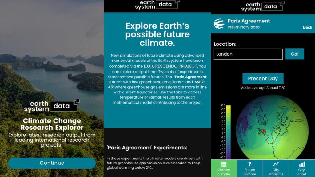 iklim değişikliği simülasyonu esd research uygulaması