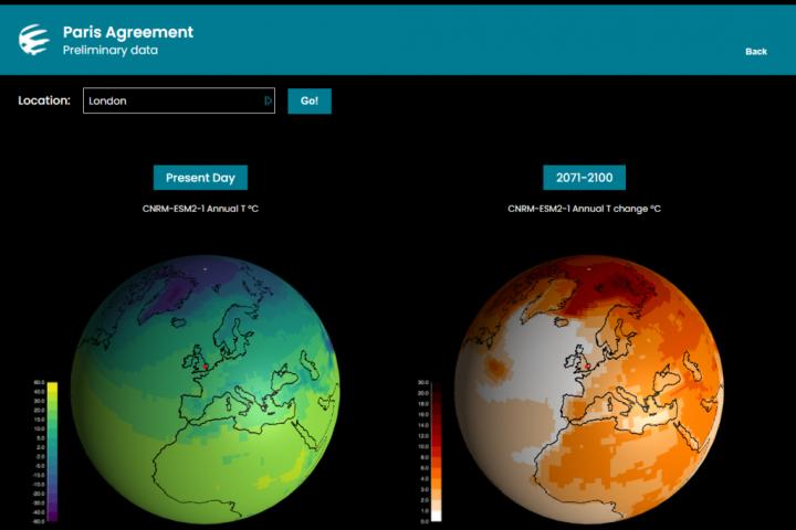 iklim değişikliği simülasyonu uygulaması esd research